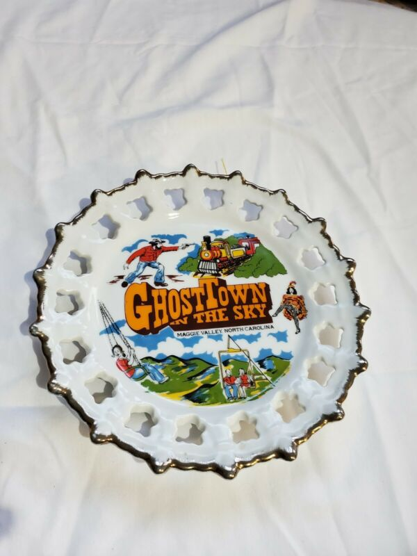 Ghost Town in the Sky Vintage Maggie Valley North Carolina State Souvenir Plate