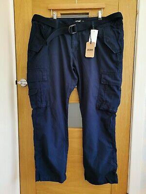 Mens Navy Blue Cargo Trousers By Jacamo BNWT - 46 Regular