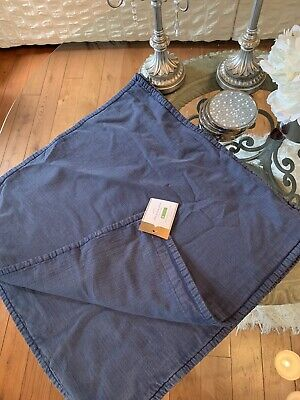 "Set Of 2 Pottery Barn Ollie Pillow Cover 20"" Blue Jean Washed Accent"