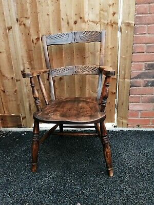 Victorian Beech Country Kitchen Chair.