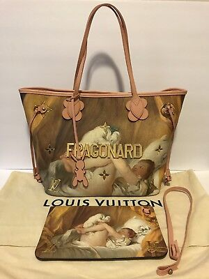 ❤️LOUIS VUITTON Masters Collection FRAGONARD Neverfull MM + CERTIFICATE OF AUTH