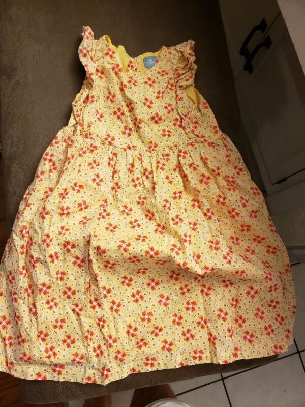 2 GAP Girls Toddler Sz 4-5 Dresses. Yellow Floral & White Butterfly