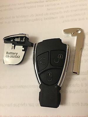 Gehäuse Fernsteuerung Schlüssel Mercedes-Benz Chrom W168 W202 W203 W208 W210