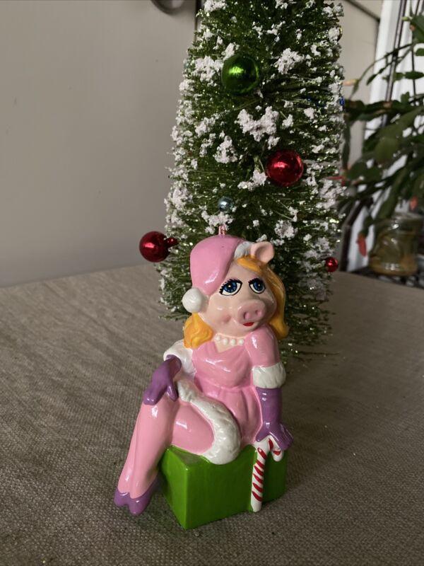 Miss Piggy Vintage 1981 Jim Henson Muppets Christmas Ornament