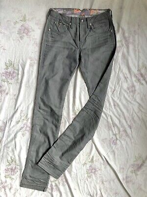 Damenjeans Hose straight cut normal waist gerade used stretch Blau Neu