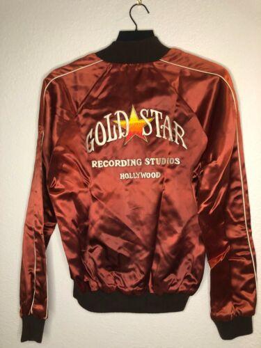 Vintage Music Studio Satin Jacket GOLD STAR RECORDING STUDIO - 40M