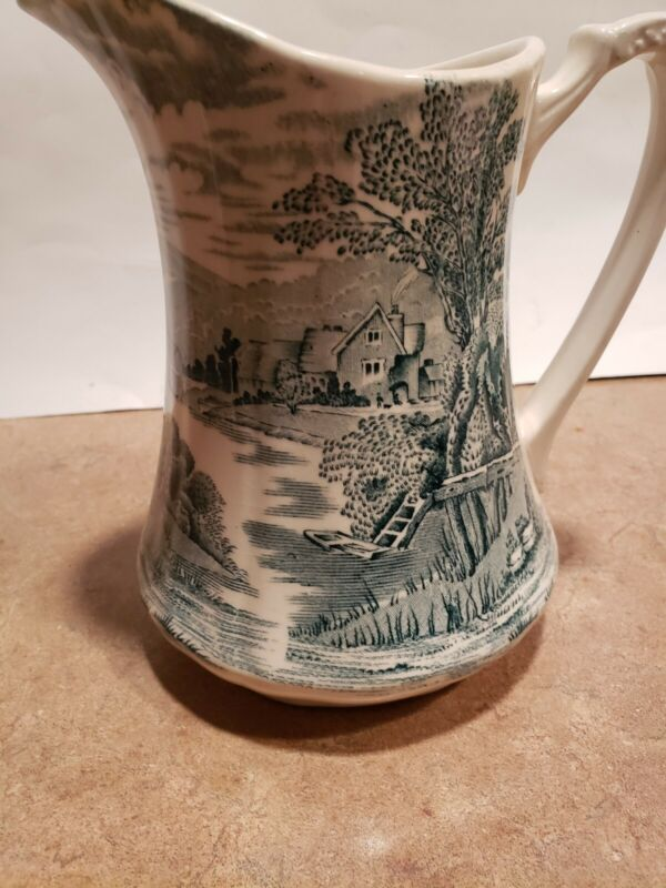 Vintage Alfred Meakin Tintern Pitcher Green Made In England