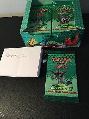 Pokémon Skyridge Booster Pack - Vaporeon Artwork Box Fresh