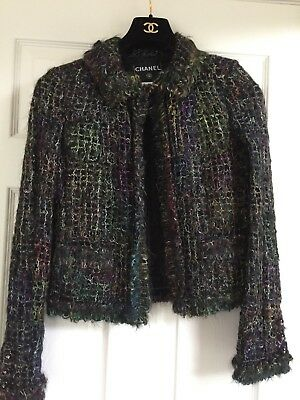 Chanel 03A MOST WANTED NEW MOHAIR RAINBOW FRINGED Jacket FR36- FR38 $6K