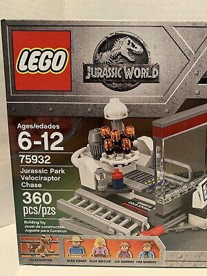LEGO Jurassic World- Jurassic Park Velociraptor Chase Set 75932 NIB 360 Pieces