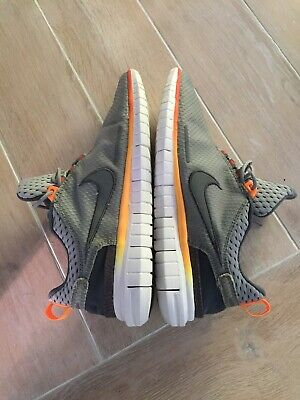 Nike Free OG '14 Grey/Orange/White  Mens Unisex Running shoe Size 9