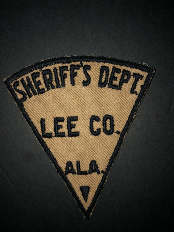 Vintage Lee County Alabama Sheriffs Department Patch Police Cop