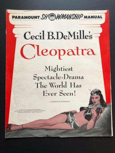 "Cleopatra Original Movie Pressbook (1952) - 12 Pages - 12.5"" x 15""  VG"