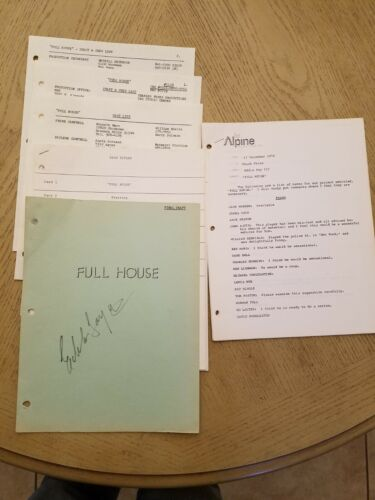 RARE 1976 Full House NBC TV UNAIRED PILOT SIGNED Memo Cast List FOY Chuck Fries