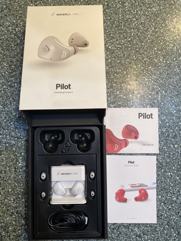 Waverly Labs Pilot Real-Time Language Ear Translator Translating Earpiece NEW!
