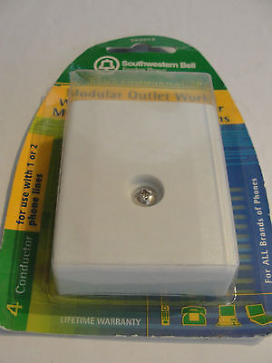 Modular Surface Jack Cover (SOUTHWESTERN BELL S60014 Modular Surface Jack Cover White )