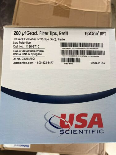 TipOne RPT 200 ul ultra low retention filter pipet tip refill, sterile, 10 casse