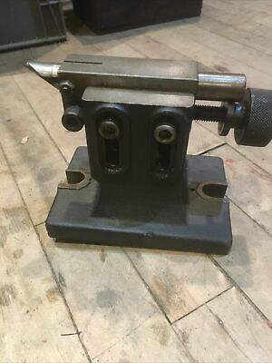 Nice Cast Iron Dividing Head Adjustable Height Tailstock Machinist Mill Tool