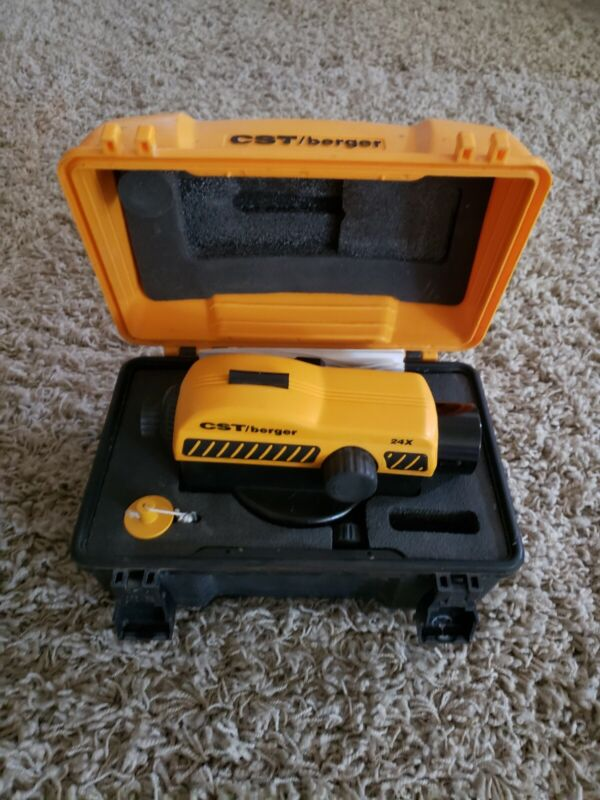 CST/BERGER 24X AUTOMATIC CONSTRUCTION PAL SERIES LEVEL LEVELER WITH CASE