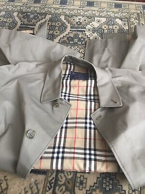 "Mens Burberry Trench Coat Olive Green Nova Check Lining | 50"" Regular"