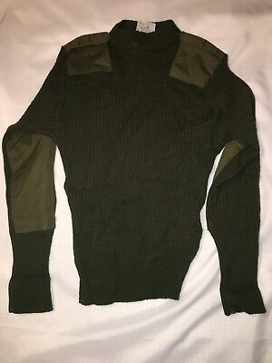 Used, US Marine Corps USMC Green Knit Sweater Service Wool Wooly Pulley Size 40 for sale  Granville