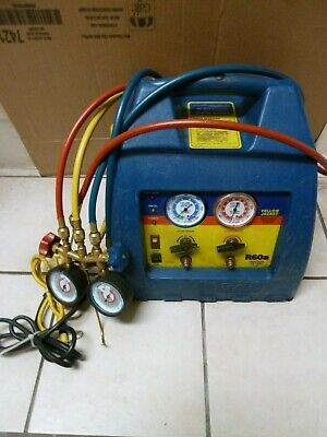 Yellow Jacket R60a Oil Less Refrigerant Recovery System W Valve Manifold Hose