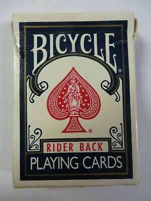 Vintage BICYCLE NO. 808 Deck Playing Cards BLUE Rider Back Poker (Vintage Bicycle Playing Cards)