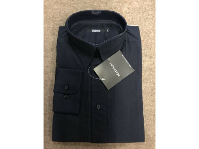 Matinique® Navy Self Striped Shirt - XXL WAS £45.00