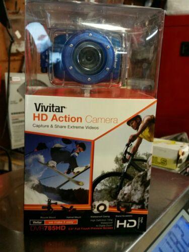 Vivitar DVR785HD-BLU 5MP Pro Waterproof Action Camcorder wit