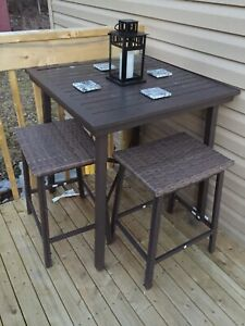 Deck patio furniture . Outdoor table