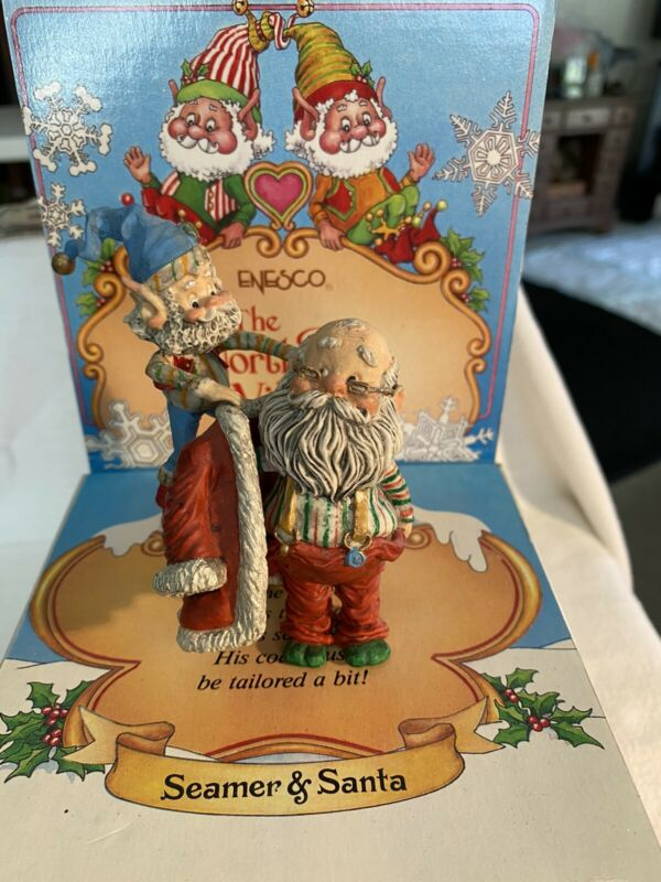 Enesco Sandy Zimnicki SEAMER & SANTA 831549 North Pole Village VERY RARE