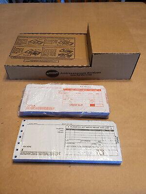 Addressograph Bartizan 4000 Flatbed Credit Card Imprinter Slips - 2000 Series