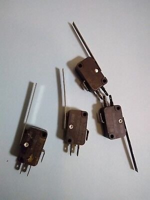 Lot Of 4 Omron V-15gl111-1c2-k Lever 2 Arm Mini Limit Switch 15a 125-250 Vac