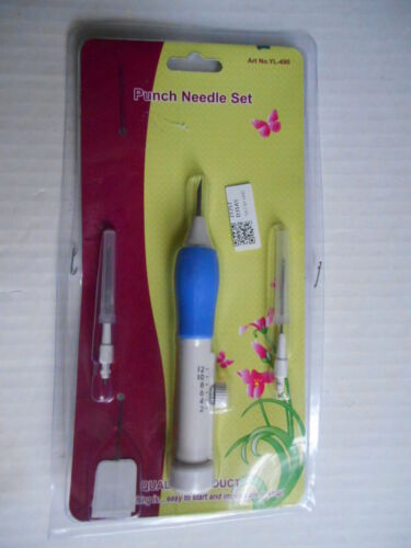 New Punch Needle Tool Set  3 needle kit for PUNCH NEEDLE EMBROIDERY Sealed