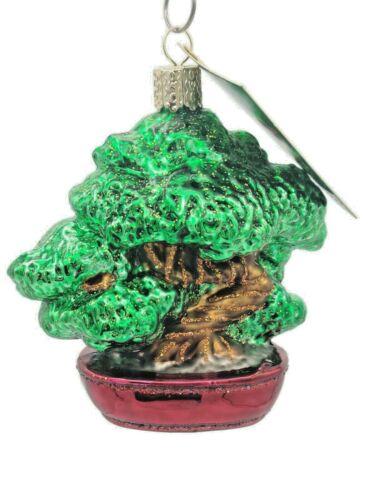 Bonsai Tree Ornament Old World Christmas Holiday Bon-sai Planted Horticulture