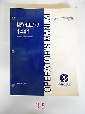 New Holland 1441 Discbine Mower-conditioner Operators Owners Manual 800