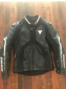 Dainese Super rider perforated black leather