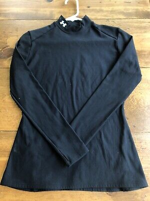 UNDER ARMOUR WOMEN'S MOCK COLD GEAR L/S RUNNING ATHLETIC COMPRESSION SHIRT Large