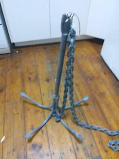 5kg grapnel anchor with chain