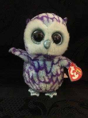Ty Beanie Boos   Oscar The 6  Owl With Tags Stuffed Animal Plush Toy