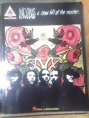 Incubus A Crow Left of the Murder Guitar Music Book Guitar Recorded Versions