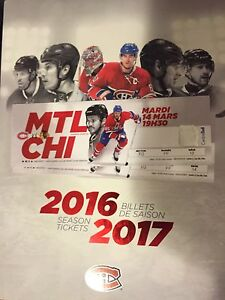 Chicago Blackhawks vs Montreal Canadiens tickets