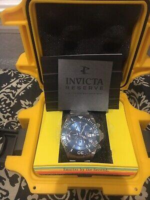Invicta Reserve Men's Pro Diver Swiss Valjoux 7750 Chrono 1066 BLUE DIAL NIB