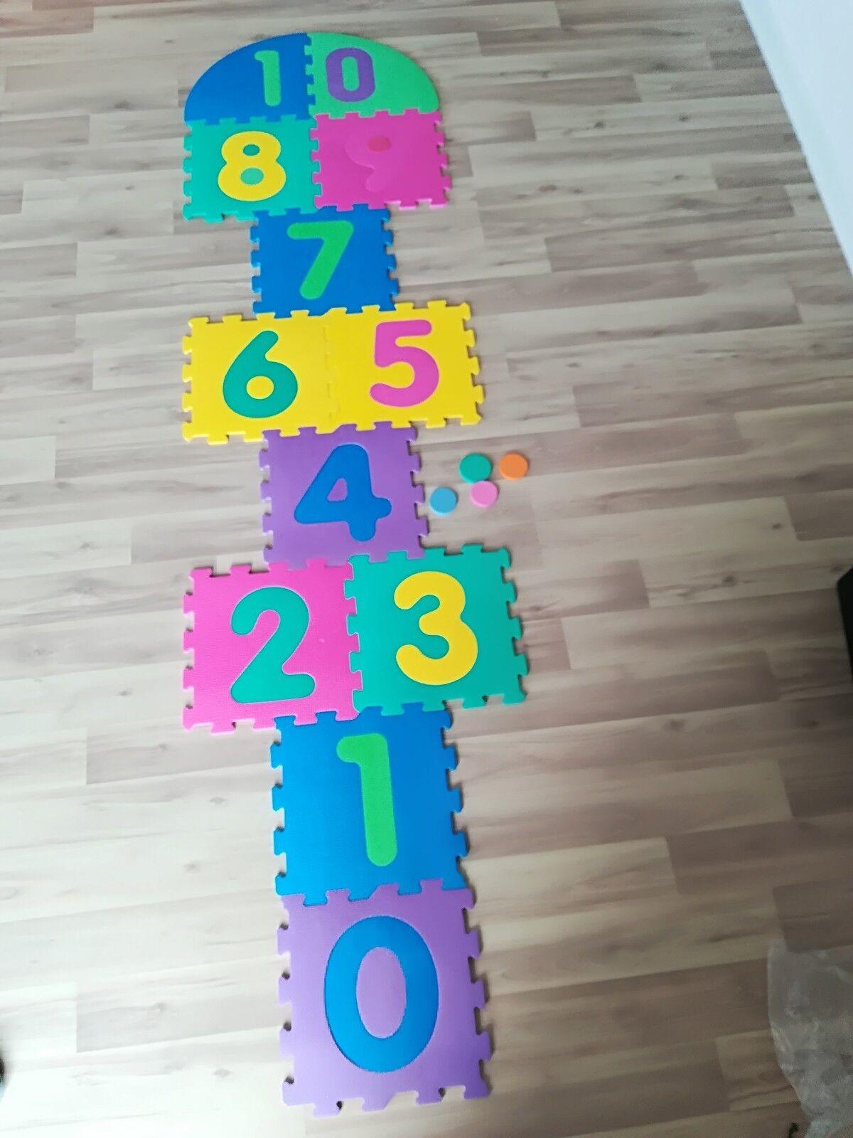 12tlg. Puzzlematte Spielmatte Bodenmatte Spielteppich Nummer