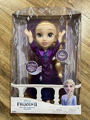 DISNEY Frozen 2 Elsa Musical Doll Sings Into the Unknown Speaks 14 Film Phrases