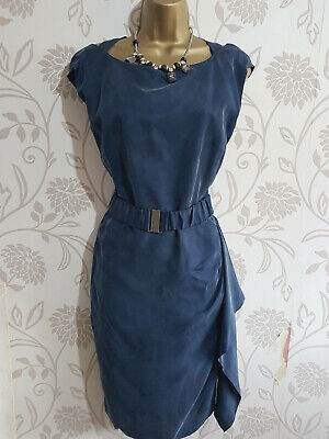 KAREN MILLEN NAVY BLUE COCKTAIL DRESS SIZE 14