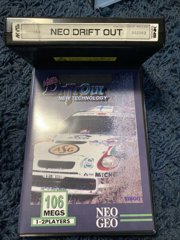 Neo Drift Out Neo Geo MVS game w/ custom shockbox