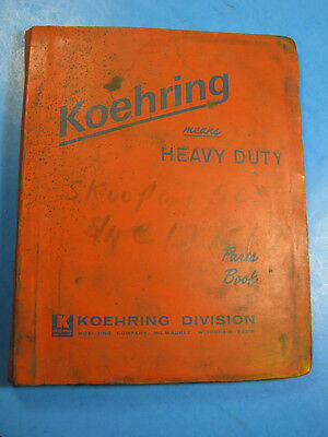Koehring Bantam 505-1a Skooper Parts Book Catalog