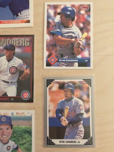 Ryne Sandberg Card Lot 8 Cards Total Chicago Cubs HOF NM Topps UD  - $1.99