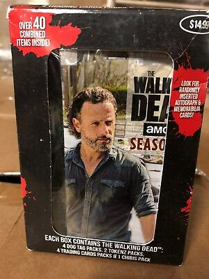 The Walking Dead Collectors Box!  Dog Tags, Trading Cards And Figurines Inside.](Animated Walking Dead)